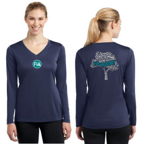 FiA Hickory Sport-Tek Ladies Long Sleeve Competitor V-Neck Tee Pre-Order