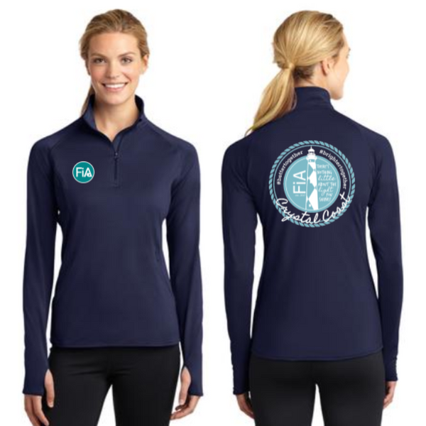 FiA Crystal Coast Sport-Tek Ladies Sport-Wick Stretch 1/2-Zip Pullover Pre-Order