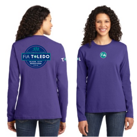 FiA Toledo: The Glass City Marathon Port & Company Ladies Long Sleeve Cotton Tee Pre-Order
