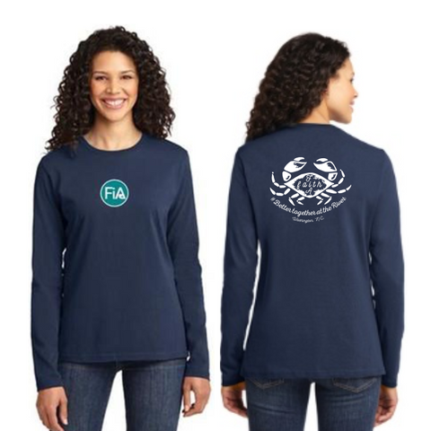 FiA Washington Port & Company Ladies Long Sleeve Cotton Tee Pre-Order