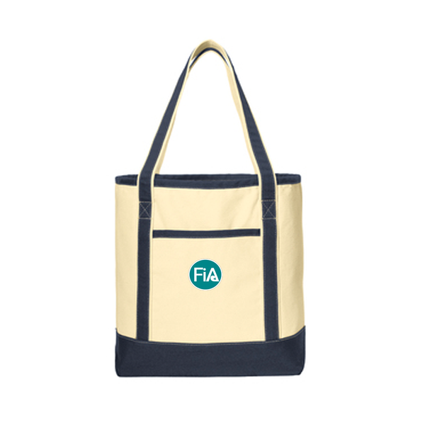 FiA Cotton Canvas Boat Tote - Made to Order