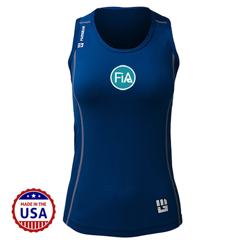 FiA MudGear Women's Performance Racerback Tank (Navy) - Made to Order