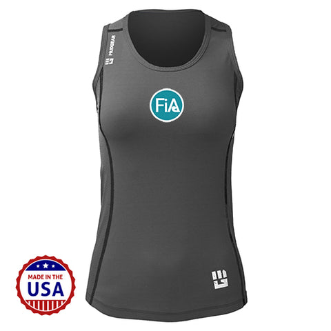 FiA MudGear Women's Performance Racerback Tank (Steel Gray) - Made to Order
