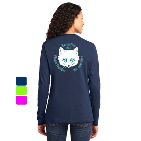 FiA Hartsville Port & Company Ladies Long Sleeve Cotton Tee Pre-Order