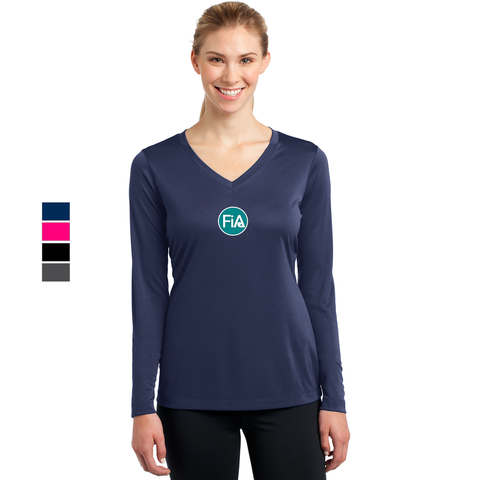 FiA Raleigh - Sport-Tek Ladies Long Sleeve Competitor V-Neck Tee Pre-Order
