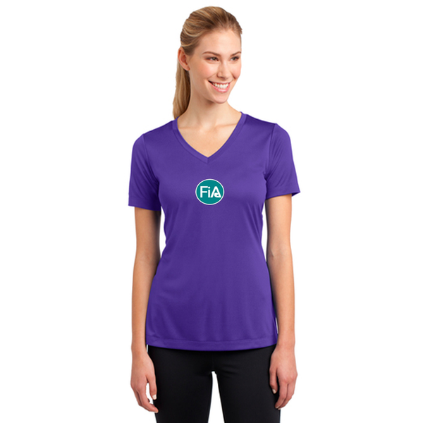 FiA Lexington Down Under Sport-Tek Women's Short Sleeve V-Neck Tee Pre-Order
