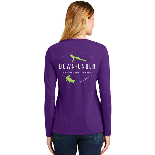 FiA Lexington Down Under Port & Co Ladies Long Sleeve V-Neck Tee Pre-Order