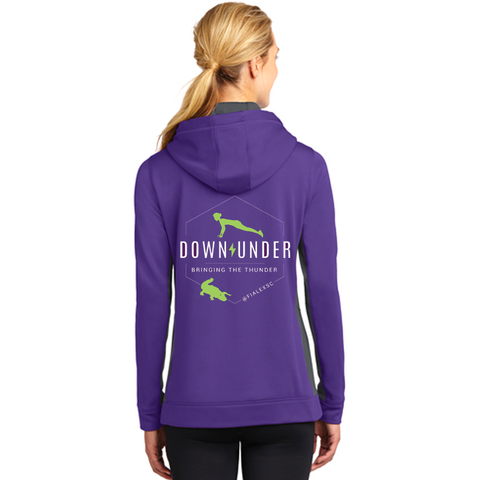 FiA Lexington Down Under Sport-Tek Ladies Sport-Wick Fleece Colorblock Hooded Pullover Pre-Order