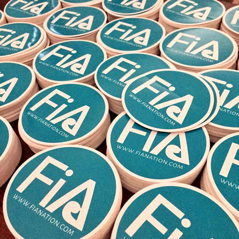 FiA Stickers 20 Pack