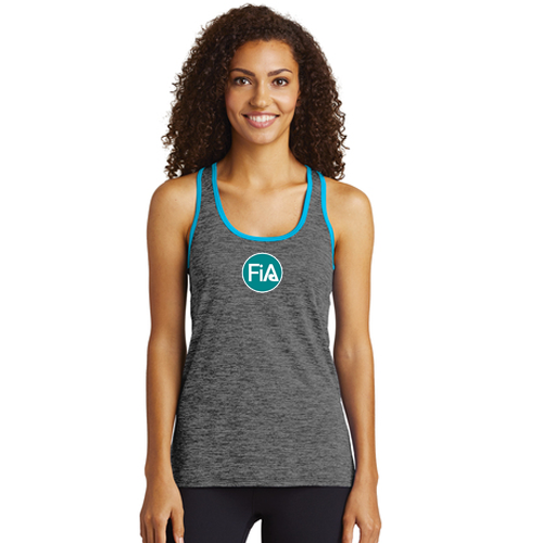 FiA Sport-Tek Ladies PosiCharge Electric Heather Racerback Tank - Made to Order