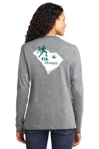 FiA Florence Port & Company Ladies Long Sleeve Cotton Tee Pre-Order