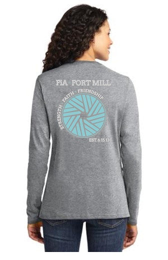 FiA Fort Mill Port & Company Ladies Long Sleeve Cotton Tee Pre-Order