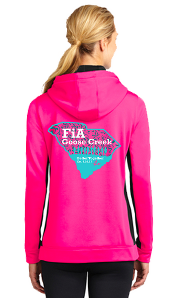 FiA Goose Creek Sport-Tek Ladies Sport-Wick Fleece Colorblock Hooded Pullover Pre-Order