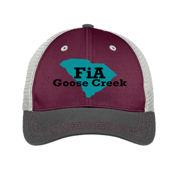 FiA Goose Creek District Tri-Tone Mesh Back Cap Pre-Order