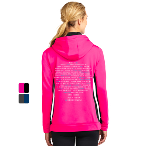 FiA TN - Northeast (Johnson City) Sport-Tek Ladies Sport-Wick Fleece Colorblock Hooded Pullover Pre-Order