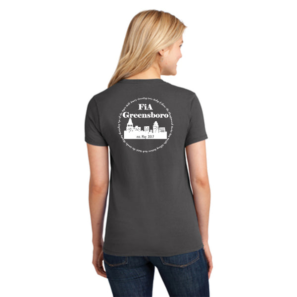FiA Greensboro Port & Company Ladies Core Cotton Tee Pre-Order