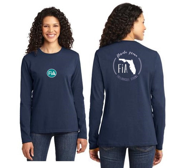 FiA Tallahassee Port & Company Ladies Long Sleeve Cotton Tee Pre-Order