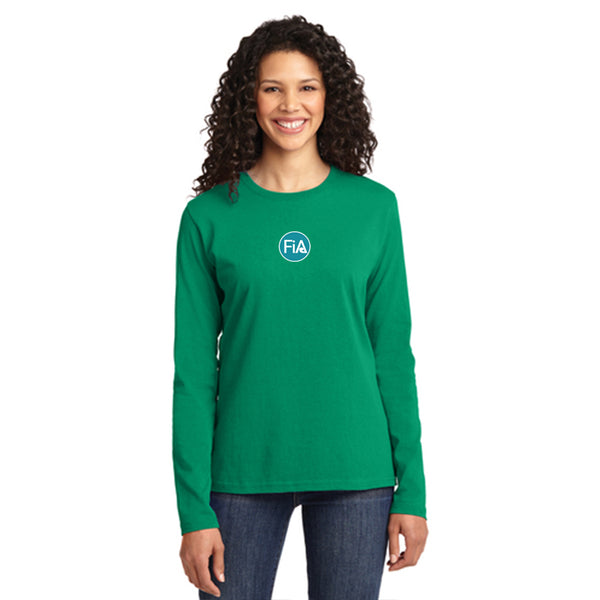 FiA Greensboro Port & Company Ladies Long Sleeve Cotton Tee Pre-Order