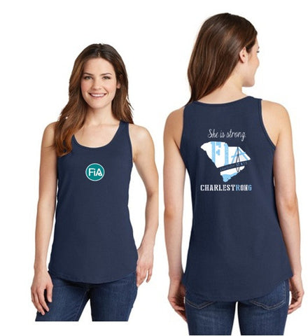 FiA Charleston Port & Company Ladies Cotton Tank Top Pre-Order