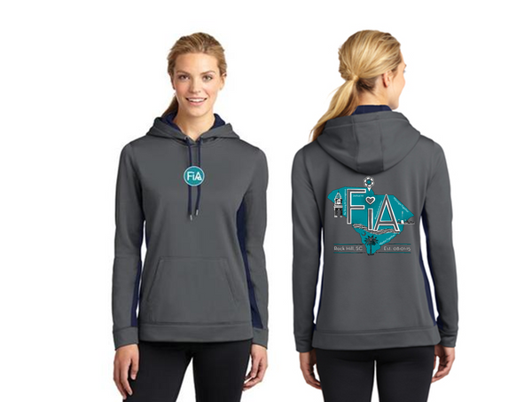 FiA Rock Hill Sport-Tek Ladies Sport-Wick Fleece Colorblock Hooded Pullover Pre-Order