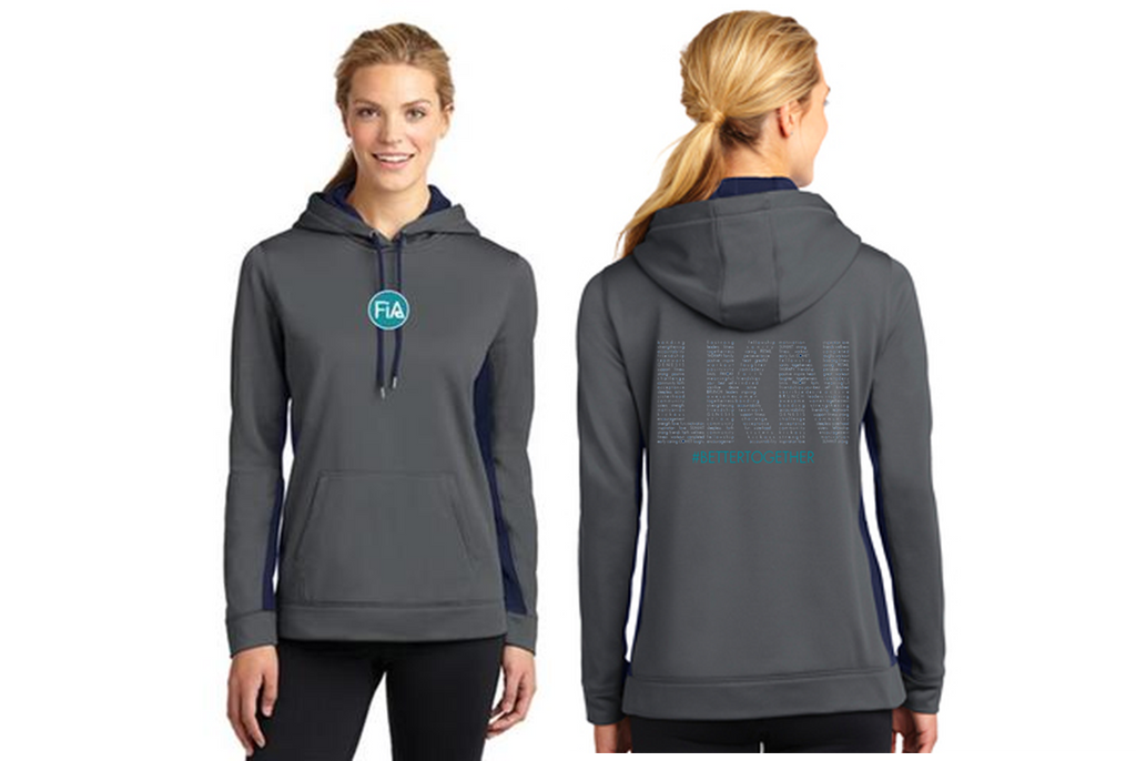FiA LKN Sport-Tek Ladies Sport-Wick Fleece Colorblock Hooded Pullover Pre-Order