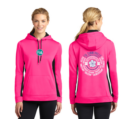 FiA Summerville 2016 Sport-Tek Ladies Sport-Wick Fleece Colorblock Hooded Pullover Pre-Order