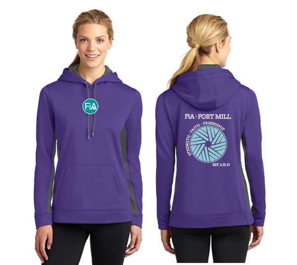 FiA Fort Mill Sport-Tek Ladies Sport-Wick Fleece Colorblock Hooded Pullover Pre-Order