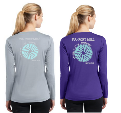 FiA Fort Mill Sport-Tek Women's Long Sleeve V-Neck Tee Pre-Order