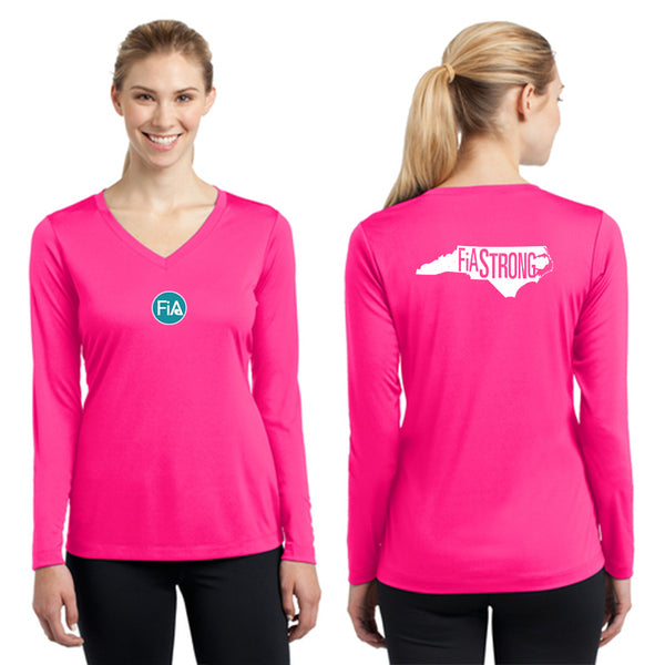 FiA Strong - NC Sport-Tek Ladies Long Sleeve Competitor V-Neck Tee Pre-Order