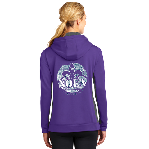 FiA NOLA Sport-Tek Ladies Sport-Wick Fleece Colorblock Hooded Pullover Pre-Order
