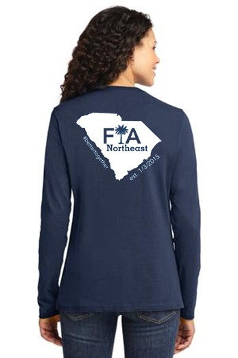 FiA Northeast Port & Company Ladies Long Sleeve Cotton Tee Pre-Order