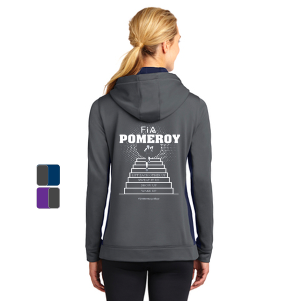 FiA Pomeroy Sport-Tek Ladies Sport-Wick Fleece Colorblock Hooded Pullover Pre-Order