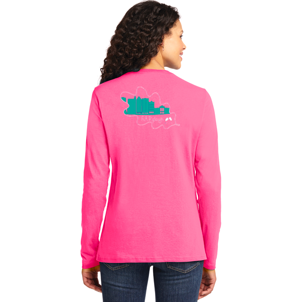 FiA Raleigh - Port & Company Ladies Long Sleeve Core Cotton Tee Pre-Order