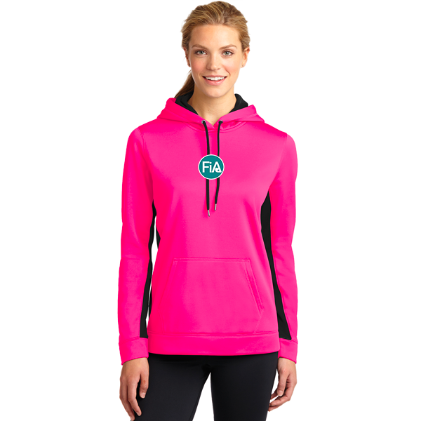 FiA Raleigh - Sport-Tek Ladies Sport-Wick Fleece Colorblock Hooded Pullover Pre-Order