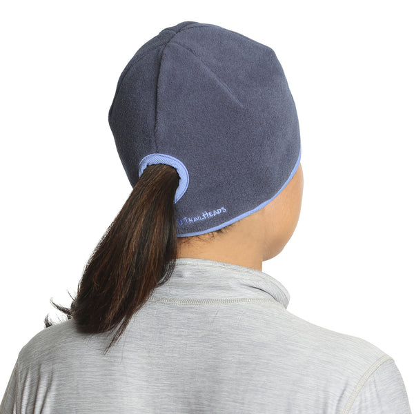 FiA Trailheads Ponytail Beanie (Charcoal/True Blue)