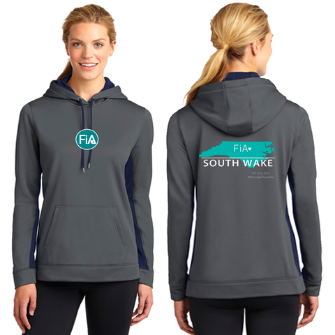 FiA South Wake Sport-Tek Ladies Sport-Wick Fleece Colorblock Hooded Pullover Pre-Order