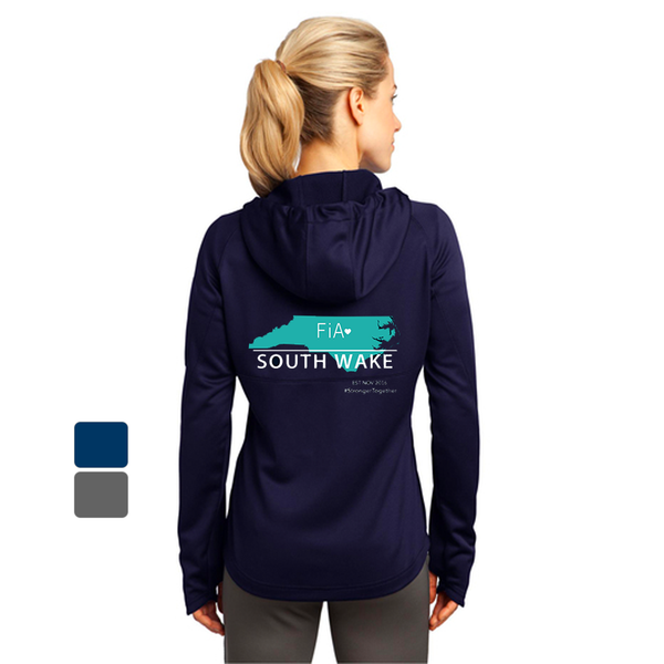 FiA South Wake Sport-Tek Ladies Tech Fleece Full-Zip Hooded Jacket Pre-Order