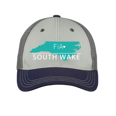 FiA South Wake District Tri-Tone Mesh Back Cap Pre-Order