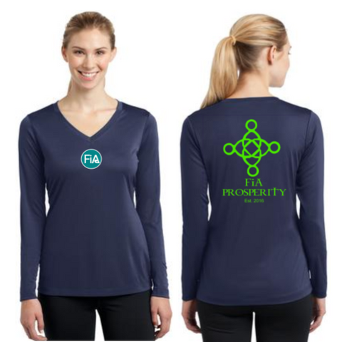 FiA Prosperity Sport-Tek Ladies Long Sleeve Competitor V-Neck Tee Pre-Order