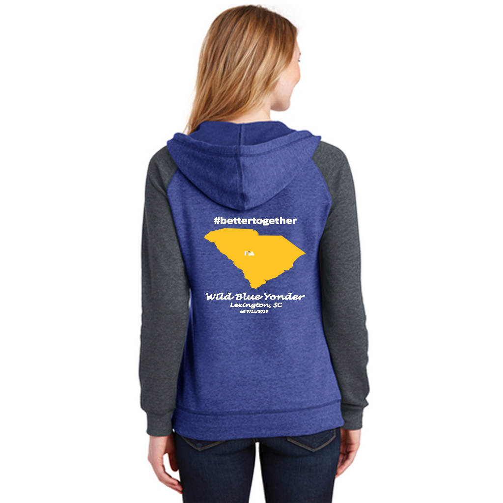 FiA Wild Blue Yonder District Women's Lightweight Fleece Raglan Hoodie Pre-Order