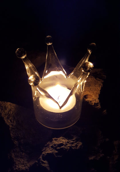 "CANDLE HOLDER.  ""How far that little candle throws his beams!"" (The Merchant of Venice 5-1)"