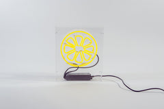 "Neon sign ""Lemon"" (switched off, white background)"