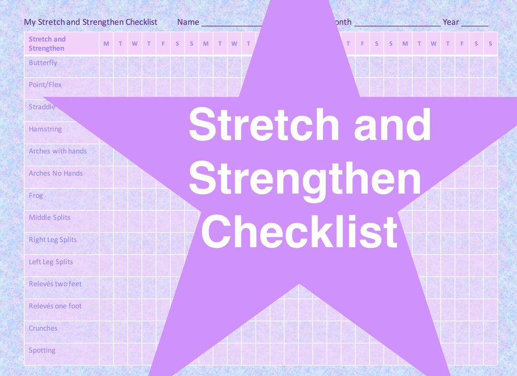 Stretch and Strengthen Checklist
