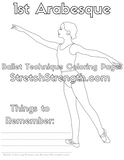 Ballet Technique Coloring Pages Vol. 1 - StretchStrength.com