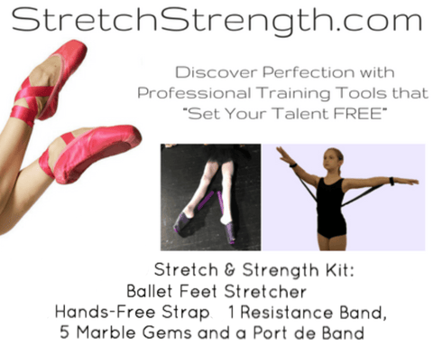 Dancer Stretch and Strength Kit - 1 Foot Stretcher, Port de Band® and More! - StretchStrength.com