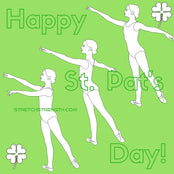 St. Patrick's Day Arabesque Ballet Technique Coloring Sheet FREE! - StretchStrength.com