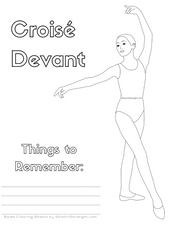 Ballet Technique Coloring Pages Vol. 1