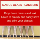 Dance Class Planner - Jazz Class Beginner to Advanced - StretchStrength.com