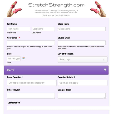 online dance class planner ballet create save share and