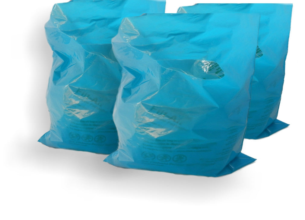 "Teal Blue Plastic Merchandise Bags size 15"" x 18"" x 4"" Colored Party Gift Bags With Handles - Wrappingmeup"
